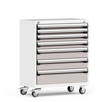 "Mobile Cabinet, 6 Drawers, 36""W x 18""D x 43 1/8""H, 4"" Casters, Heavy-Duty 16 Gauge Construction By Cleanroom World"