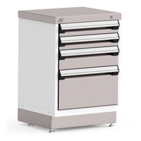 "Stationary Cabinet, 24""W x 21""D x 34""H, Stainless Steel Cover, 4 Drawers By Cleanroom World"