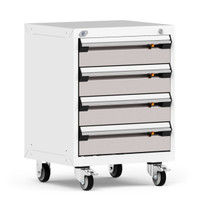 "Mobile Cabinet, 24""W x 21""D x 33 1/8""H, 4 Drawers, 4"" Swivel Casters By Cleanroom World"