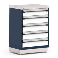 "Stationary Cabinets, 30""W x 21""D x 42""H, Stainless Steel Cover, 5 Drawer, Heavy-Duty 16 Gauge Construction By Cleanroom World"