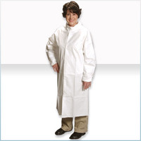 Disposable Cleanroom Frocks, Microporous Material, Snap Front, Elastic Wrists, 25/case, M-4XL by Cleanroom World