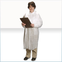 Disposable Lab Coats, Light Weight Polypropylene, Snap Close, M-3XL by Cleanroom World