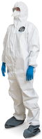 Kappler Provent 10,000 Coveralls, Attached Hood, Elastic Wrists/Ankles, CE Certified, S-2XL by Cleanroom World