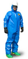 Kappler Zytron 100XP Coveralls, Elastic Wrist/Ankles, Blue, XS-4XL By Cleanroom World