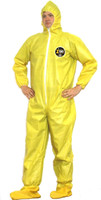 Kappler Zytron 100 Coveralls with Attached Hood and Boots, Bound Seams, XS-4XL by Cleanroom World
