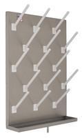 "Peg Board, Stainless Steel, 30"" x 24"", 25 Pegs By Cleanroom World"