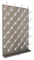 "Peg Board, Stainless Steel, 36"" x 30"", 60 Pegs By Cleanroom World"