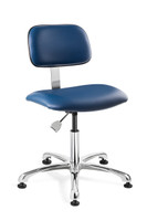 Cleanroom Chairs,  ISO 6 Class 1000, Mushroom Glides, Control Options, Color Options by Cleanroom World