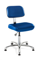 Cleanroom Chairs; Height: 2 heights, ISO 5 Class 100, Control Options, Mushroom Glides By Cleanroom World