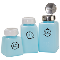 ESD Solvent Dispensers; Multiple Sizes, Standard Pump, Blue By Cleanroom World