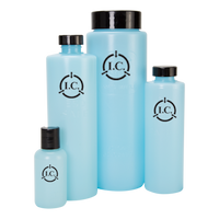 ESD Round Storage Bottles with Lid, Multiple Sizes, Blue by Cleanroom World