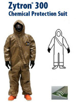 Chemical Suits, Kappler Zytron 300 NFPA Certified Coverall-Guardian Butyl Gloves, XS-4XL By Cleanroom World