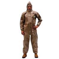 Kappler Zytron 300 Coveralls, CE Certified Type 3, Attached Hood, Respirator Fit Closure, Elastic Wrists/Ankles/Face Opening, Heat Sealed Taped Seams, S-5XL By Cleanroom World