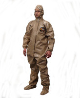 Kappler Zytron 300 Coveralls, Attached Hood and Booties, Respirator Fit Closure, Elastic Wrists, Heat Sealed Taped Seams, S-5XL By Cleanroom World