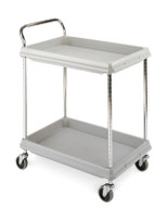 """Polymer Utility Carts, 24""""x 36"""", 2 Shelves by Cleanroom World"""