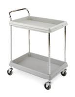 "Polymer Utility Carts; 2.75"" Deep Ledge, 2 Shelves, 21-1/2""x 32-3/4""x 41""H By Cleanroom World"