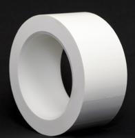 Cleanroom Tape, Vinyl Construction, Medium Tack, Multiple Sizes, White By Cleanroom World