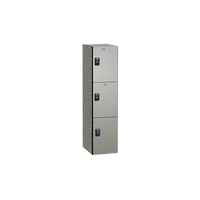 Storage Lockers, Phenolic, Triple Tier, Silver, Multiple Sizes and Colors, Impact, Water and Corrosion Resistant by Cleanroom World