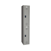 Plastic Locker, Two Tier, Multiple Sizes and Colors by Cleanroom World