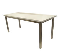 ESD Laminate Tables, Stainless Steel Frame, Cleanroom, Laminate Table Top By Cleanroom World