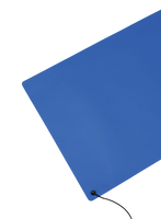 ESD Table Mats, PVC, Single Layer, Blue By Cleanroom World