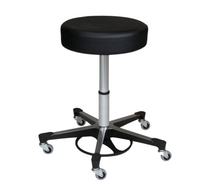 "Lab Stools; Pneumatic Foot Operated, Casters, Height: 18""-23"" By Cleanroom World"