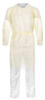 Isolation Gowns, Elastic Wrist, One Size, Tan, 100/Case By Cleanroom World