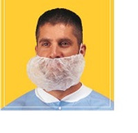 Beard Covers, Cleanroom, Polypropylene, 100/Bag, 10 Bags/case, White By Cleanroom World