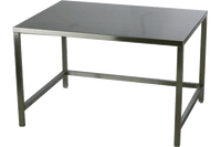 "Electropolished Cleanroom Tables, Type 304 Stainless Steel, 24""x24""x30"" by Cleanroom World"