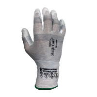 ESD Cut Resistant Gloves, Palm Coated, XS-2XL By Cleanroom World