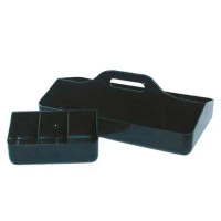 Conductive ESD Tool Carriers, Polypropylene Plastic, Black By Cleanroom World