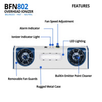 Two Fan overhead Ionizer with LED Task Light By Cleanroom World