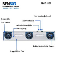 Three Fan overhead Ionizer with LED Task Light By Cleanroom World