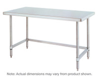 Stainless Steel Table, 3-Sided Frame, IM-WT-US