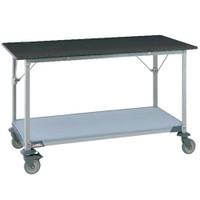Lab Table, Metro, Phenolic Black Top, Solid Shelf By Cleanroom World