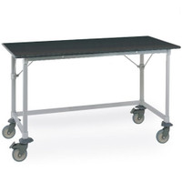Mobile Lab Table, Metro, Phenolic Top, 3 Sided Frame By Cleanroom World