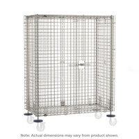 """Mobile Security Carts, Super Erecta Shelf, Stainless Steel Construction, 2 Intermediate Shelves, 5"""" Swivel Casters w/ Brakes By Cleanroom World"""