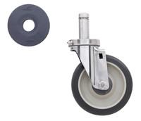 "5"" Polyurethane, Stem/Swivel, Cart Washable, For Super Erecta Industrial Wire Shelving Racks"