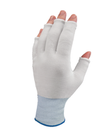 Pure Touch Glove Liners, Nylon, Partial Finger, Color Coded By Size, Sturdy, Launderable, and Reusable By Cleanroom World