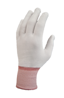 Pure Touch Glove Liners, Nylon, Full Finger, Color Coded By Size, Sturdy, Launderable, and Reusable By Cleanroom World