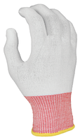 Cut Resistant Glove Liners, 13 Gauge White Nylon with HPPE, Color Coded By Size, Sturdy, Launderable, and Reusable By Cleanroom World