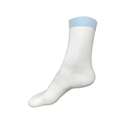 Pure Comfort Launderable Cleanroom Socks, Low Particle Generation, Color Coded By Size By Cleanroom World
