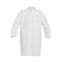 Disposable Frocks, SMS Garment, Zipper Front, Elastic Wrists, M-4XL  by Cleanroom World