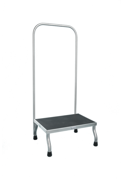 """Step Stools, Stainless Steel, Hand Rail, 30""""x12""""x8""""H by Cleanroom World"""