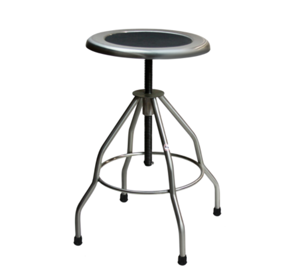 """Stainless Steel Stool Height 19"""" to 31"""" by Cleanroom World"""