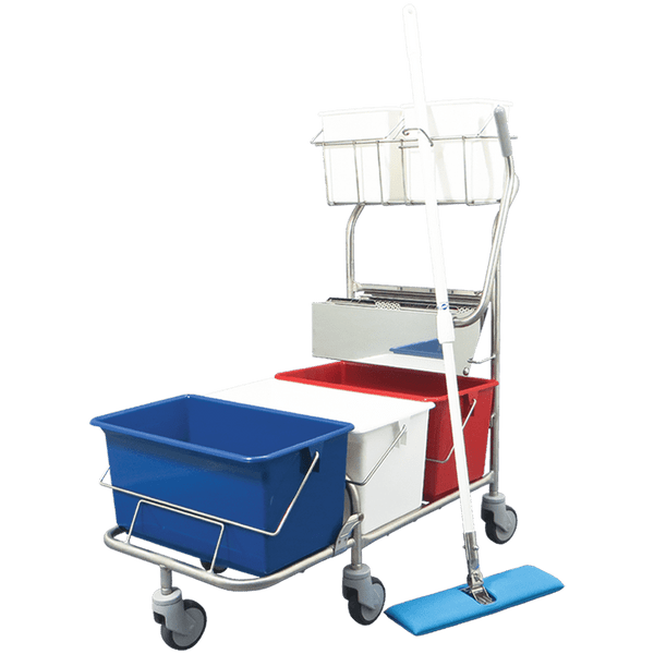 Mop Bucket Systems for Perfex TruClean Pro XL Triple 22 Liter Buckets PF-22-3XL by Cleanroom World