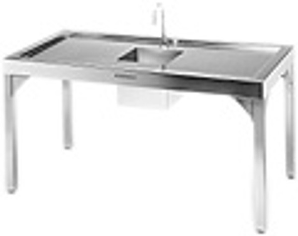 """Cleanroom Tables, Stainless Steel Recessed Solid Top, 48""""x 30""""x 36""""H by Cleanroom World"""