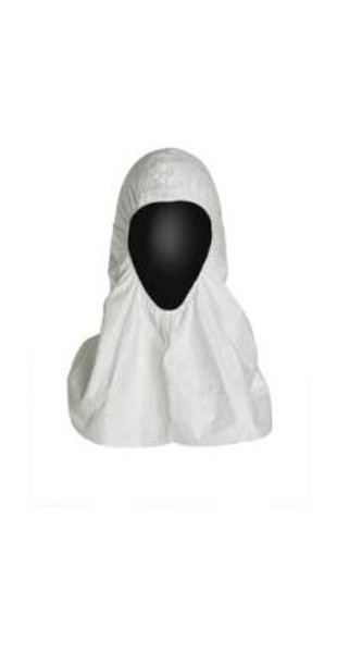 Tyvek Hoods, Open Face, Pull Over, Elastic Face, Bulk Packaged, DuPont Industrial, One Size  by Cleanroom World