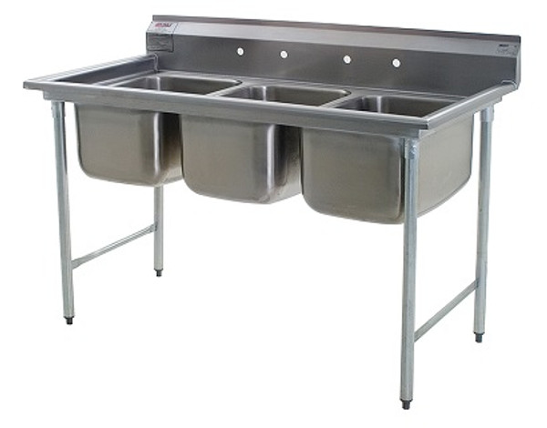 3 Compartment Sink Drain.Three Compartment Sinks Eagle No Drain Boards Type 304 Stainless Steel Ea 314 16 3
