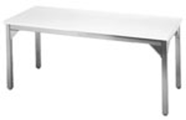 Laminate Top Tables, Stainless Steel Frame, 60x36x36 by Cleanroom World